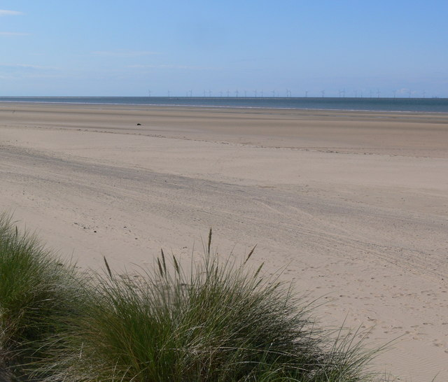 Talacre Beach at low tide