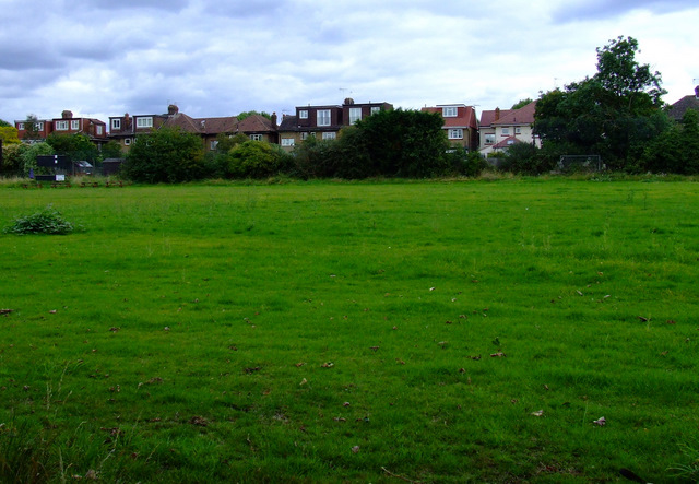 Old football pitch in Elthorne Park