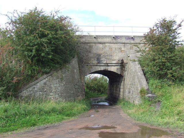 Railway bridge near Rainton Meadows