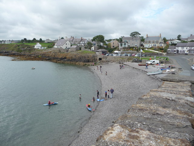 Part of Moelfre from the seawall