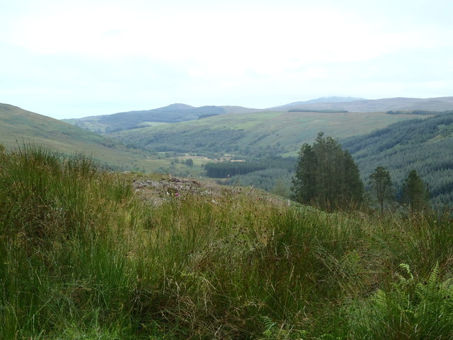 Looking towards Burnfoot and the Little Water of Fleet
