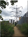 TQ2571 : Path to the pylon by Stephen Craven