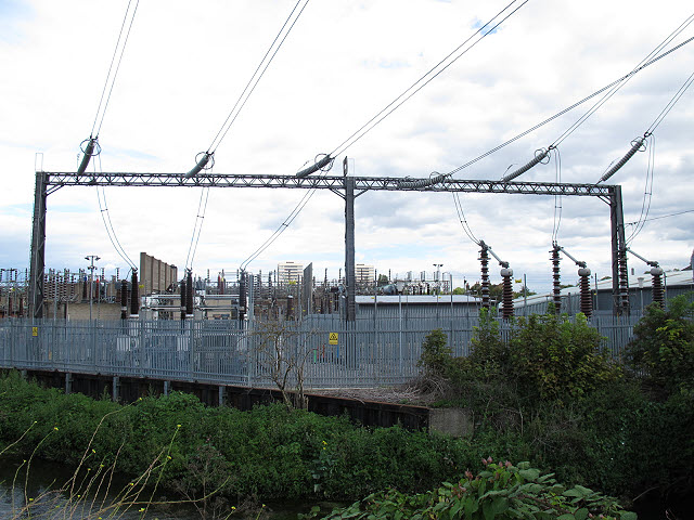 Cables entering Wimbledon substation