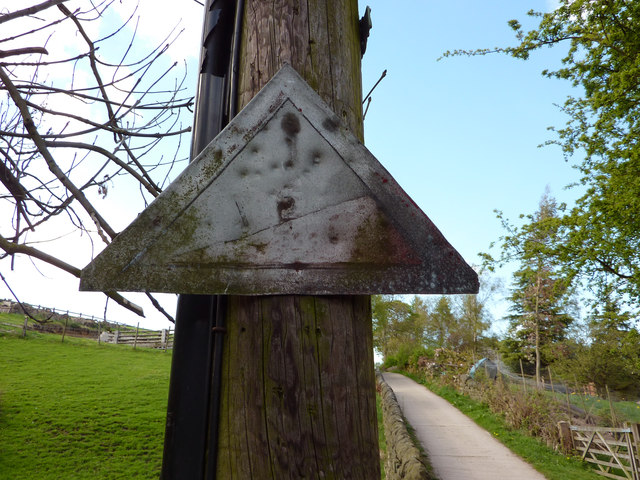 Unusual road sign on Wood Hey Lane