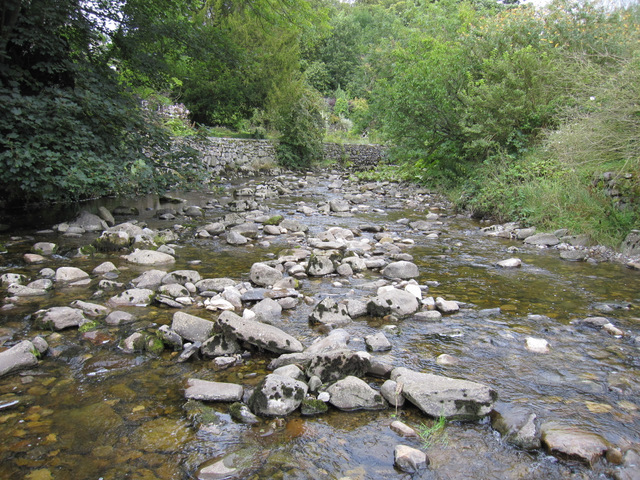 Stainforth Beck upstream from the stepping stones