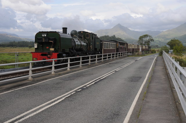Steam train on the Welsh Highland Railway