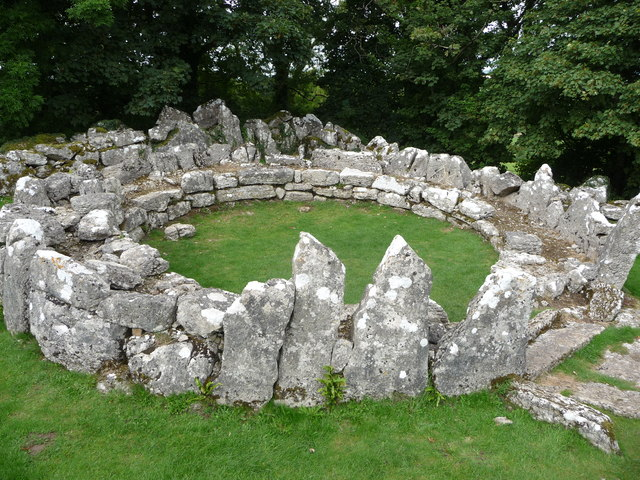 Roundhouse foundation at Din Lligwy ancient settlement