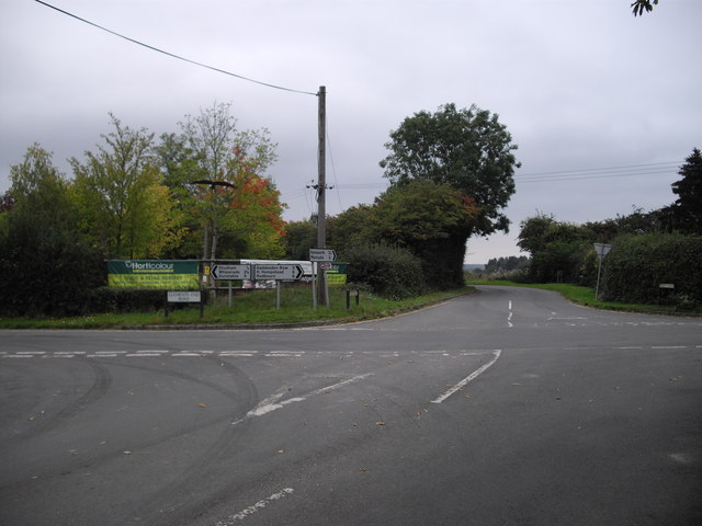 Junction of Common Rd, Byslips Rd and Clements End Rd, Studham