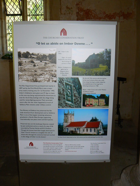 Information board, St Giles' Church, Imber