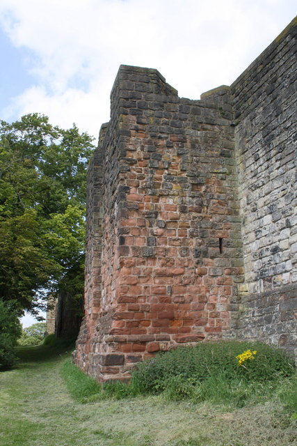 Tower abutted on west wall of Carlisle Castle