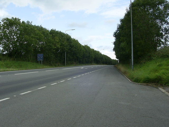 Lay-by on the A40,  Pwll-Trap