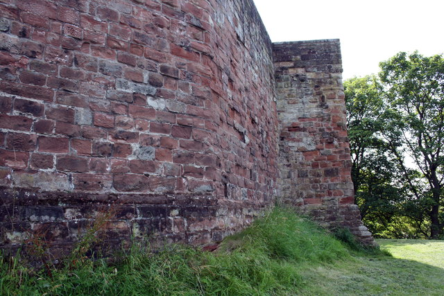 NW corner of the castle perimeter wall