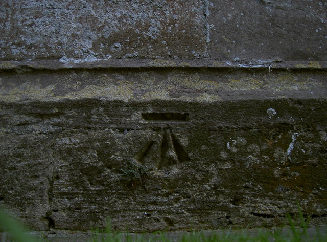 Benchmark in tower of St Andrew's