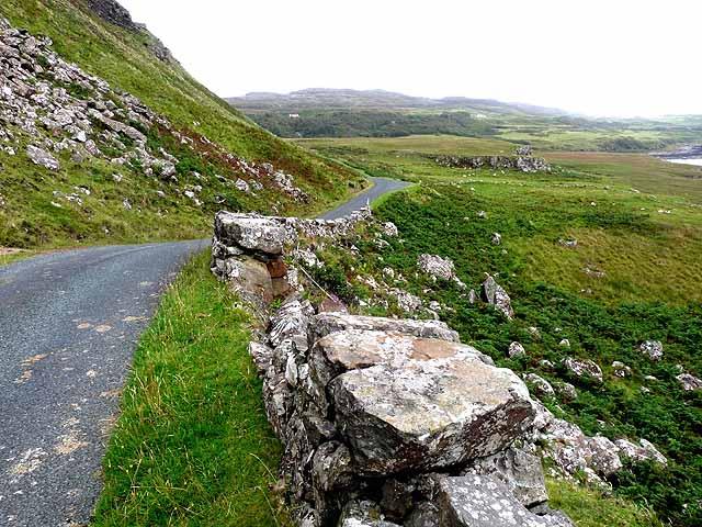Coast road at Creag a'Chaistell