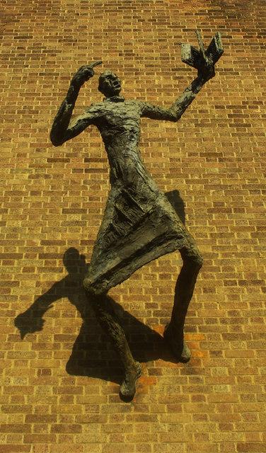 Evangelist with shadow, Forest Gate
