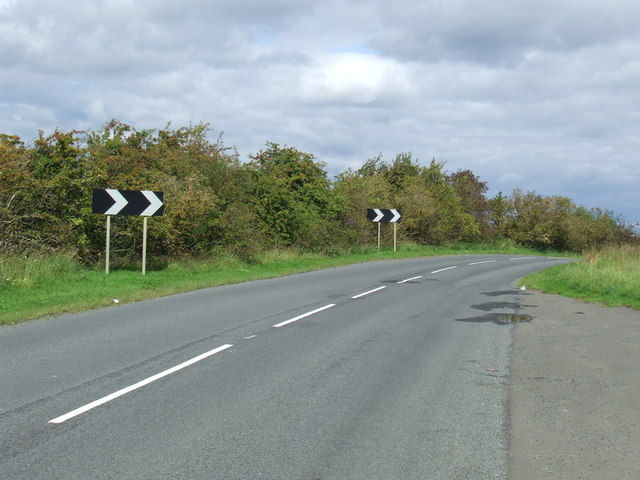 Bend in the road near Great Lumley