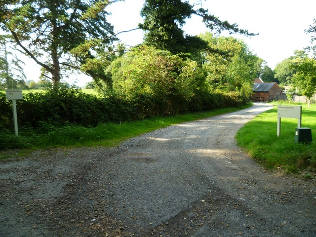 Private drive from bridleway at Wiston House