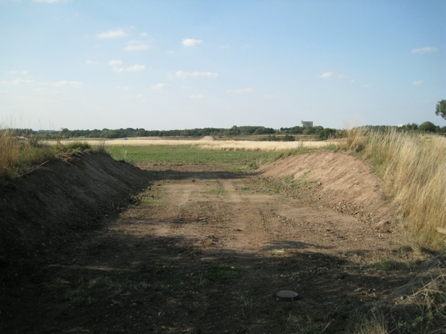 Corner of a sand and gravel quarry
