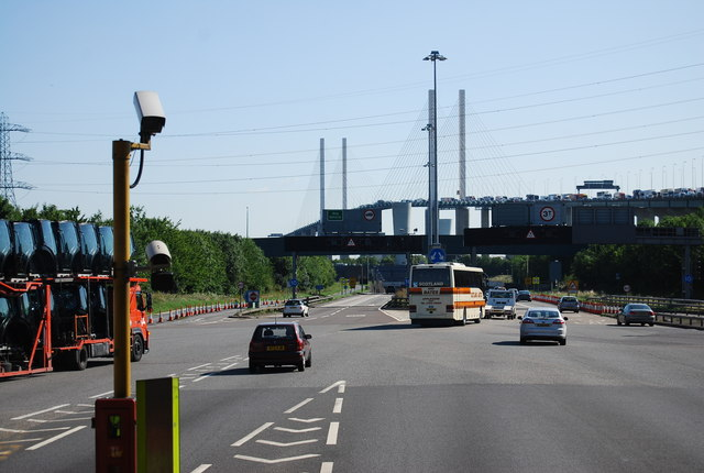 Approaching the Dartford Crossing