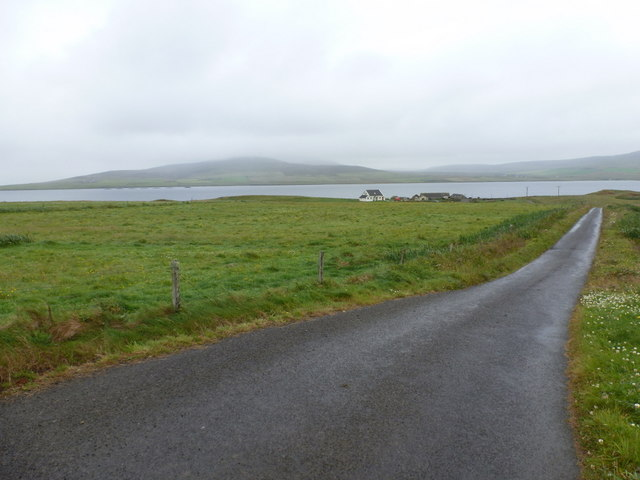 Egilsay: the road to the ferry