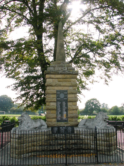 War Memorial on the corner of Station Road, Dersingham