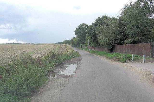 Halfpenny Lane south of Breach House