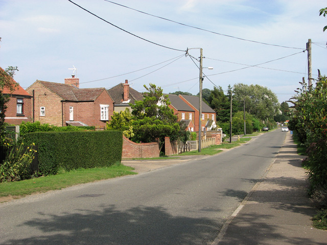 New housing in Station Road, Dersingham