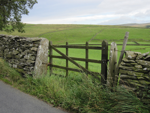 Gateway to Tongue Pasture, and a bench mark