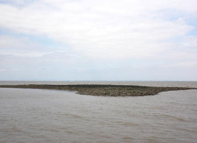 Rocky island, in Blue Anchor Bay