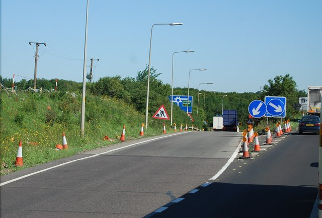 Slip road, Junction 29, M25