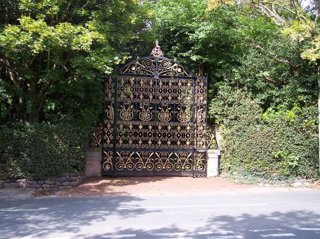 Magnificent gate at Knollwood in Well Lane Gayton