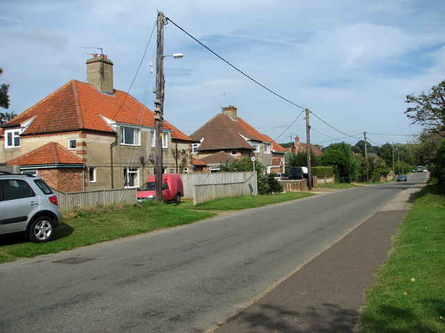 View along Station Road, Dersingham