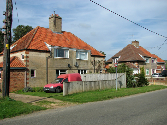 Cottages in Station Road, Dersingham