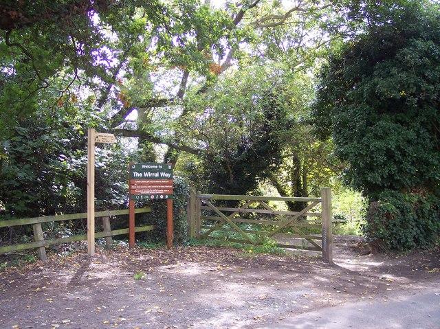 Entrance to Wirral Way at Gayton
