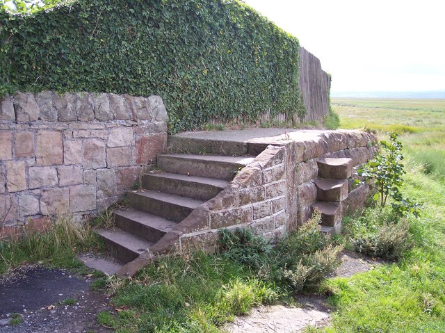 Well worn steps near Gayton Cottage