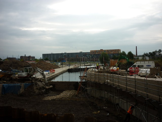 Canal repairs on the Rochdale canal at Ancoats