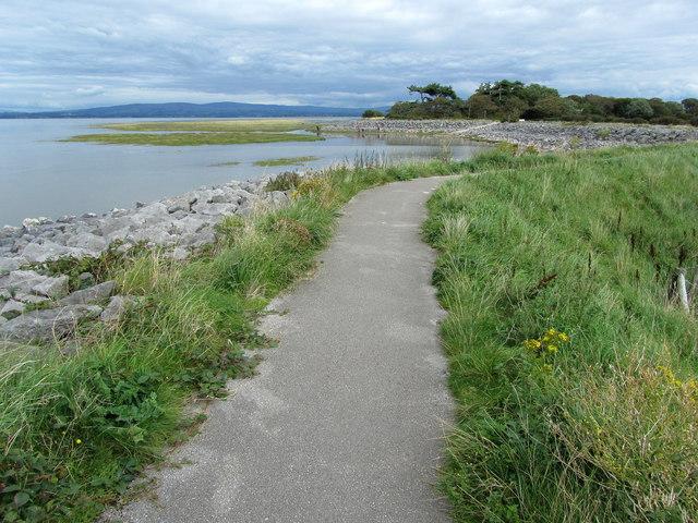 Lancashire Coastal Way near Fluke Hall