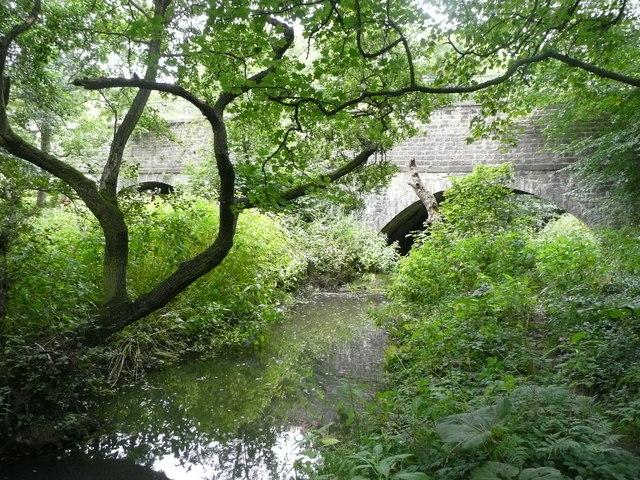 Disused mill race and Dowley Gap Aqueduct, Bingley