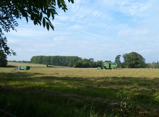 Farm work near Great Barn Farm