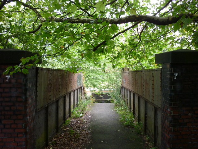 A walkway that goes under the railway lines