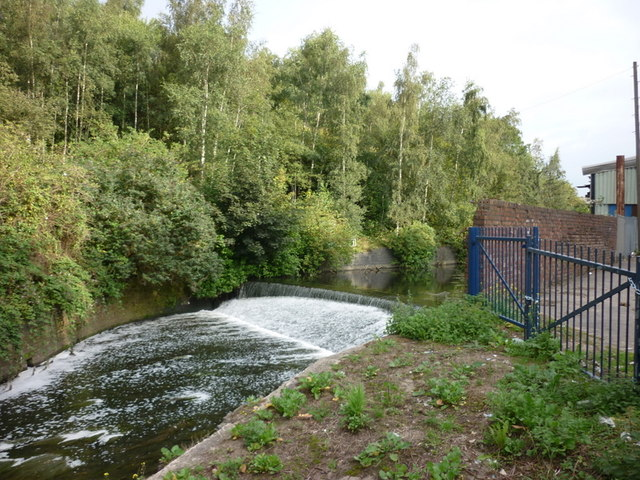 A weir on the River Irk