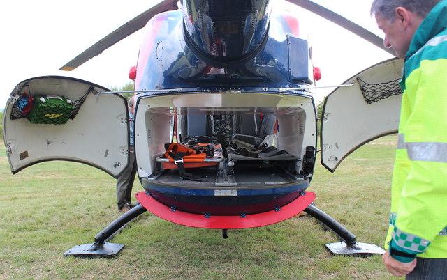 Rear of Air Ambulance, Strensham Services, M5