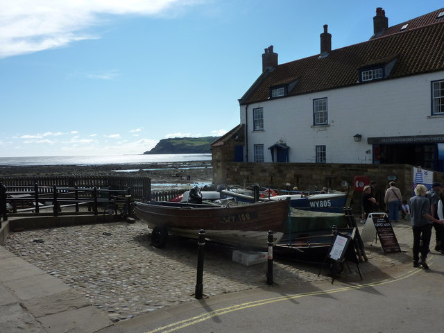 Top of the slipway at Robin Hood's Bay