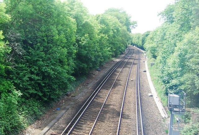 Railway line to Streatham