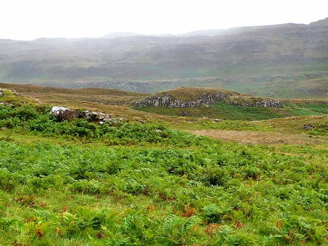 Head of the valley of the Allt a'Mhuillin