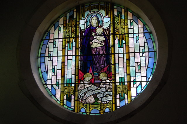 Stained glass window, Westfield Church