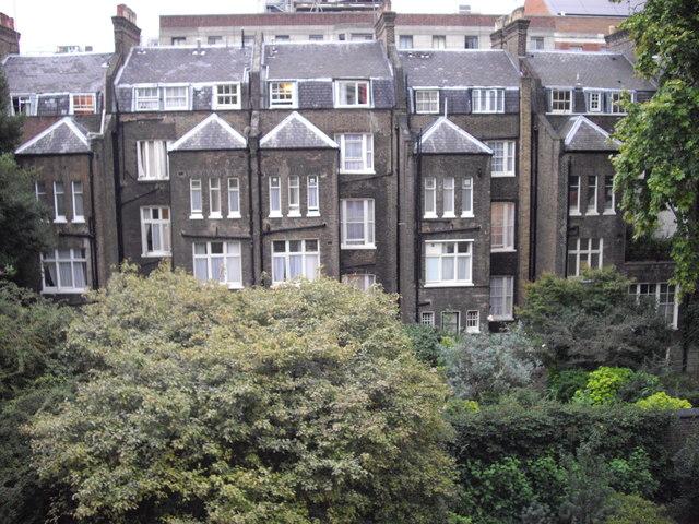 Rear of Gower St, London