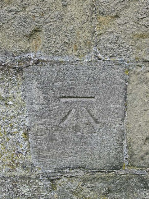 Bench mark, St Martin's ruined church
