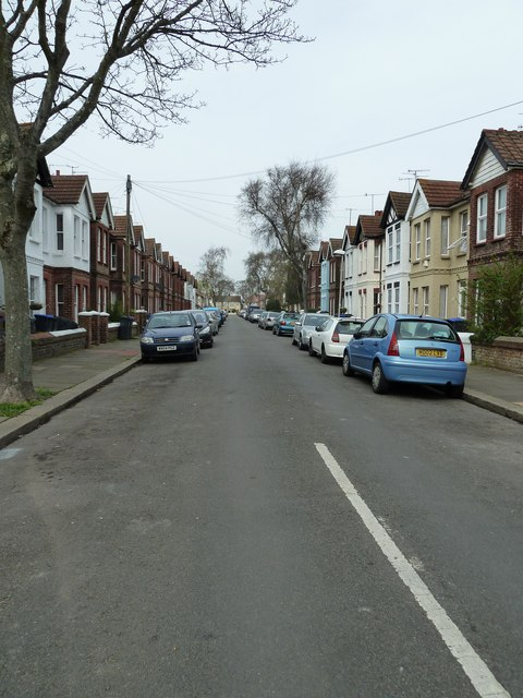 Looking northwards up St Anselm's Road
