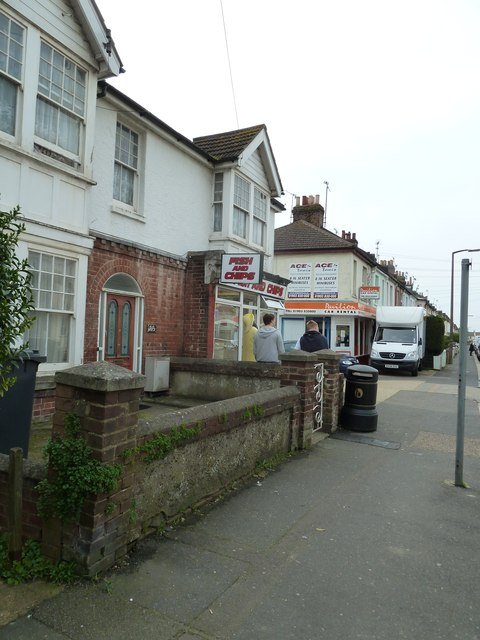 """Approaching a """"chippy"""" in Becket Road"""